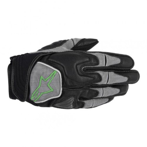 Alpinestars Scheme Kevlar Men's Textile Road Race Motorcycle Gloves - Black/Green / Medium