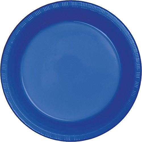 Creative Converting 319033 Cobalt Plastic Banquet Plate, 10
