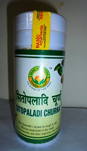 200g Pure Basic Ayurveda Sitopaladi Churna For Cold and Cough.Effective expectorant in dry cough bronchitis respiratory tract infection (Best Cough Expectorant India)