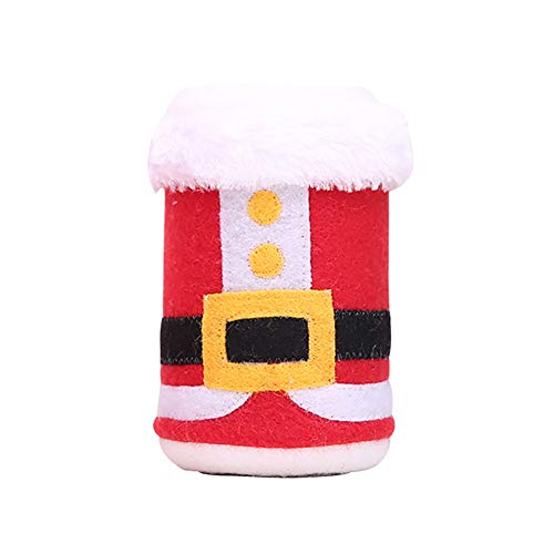 (Brave669 Christmas Tree Santa Claus Belt Wine Beer Cola Drinks Bottle Cover Party)
