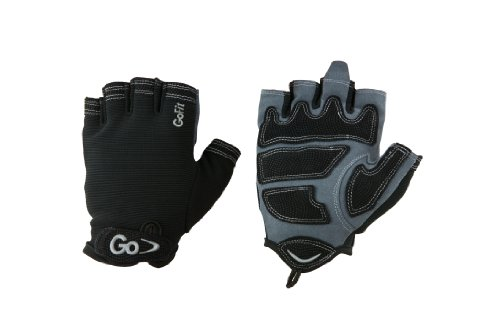 Black Cross Training Glove (GoFit Men'S Cross Training Glove With Etched Synthetic Leather Palm (Black, Medium))