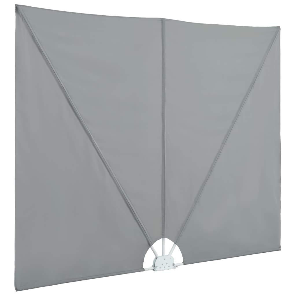 Vidaxl Balkonfacher 240x160cm Grau Balkonsichtschutz Sichtschutz
