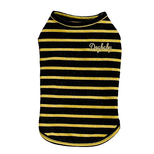 Smdoxi Dark can Withstand Dirty tri-Color Striped pet Vest Puppy cat pet Clothing Fashion Shirt Cute Cool T-Shirt