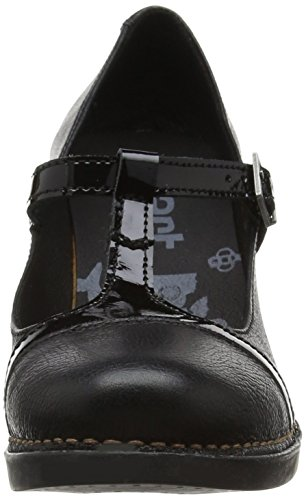 ART Damen Harlem Mary Jane Halbschuhe, Schwarz (Gaucho Total Black), 38 EU