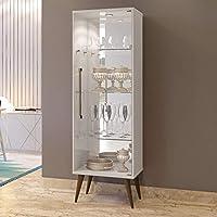 Cristaleira 1 Porta Safira Plus Mavaular Off White
