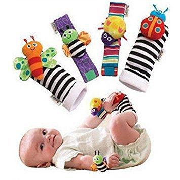 Bazaar 4pcs niños encantadores animales infantiles del bebé confunden buscadores guante establecen juguetes calcetines del...