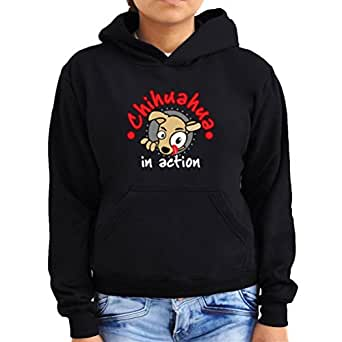 Chihuahua in action Women Hoodie