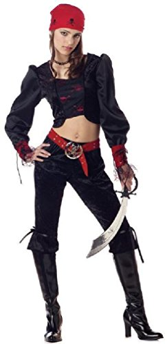 Fancy Gothic Pirate Girl Teen Costume Size: Jr (3-5) (Little Red Riding Hood Halloween Costume Teenager)