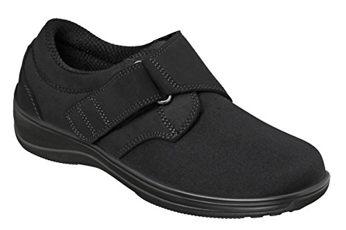 Orthofeet Wichita Women's Comfort Stretchable Orthopedic Orthotic Diabetic Shoes Black Synthetic 8 M...