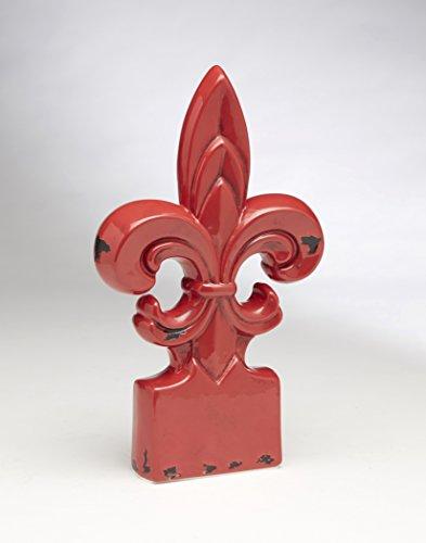 - AA Importing 59857-RD Red Fleur De Lis Finial