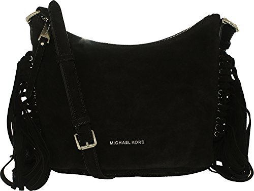 MICHAEL Michael Kors Womens Billy Suede Crossbody Handbag Black - Online Kors Shop Bags Michael