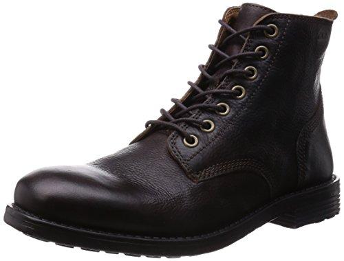 Clarks Faulkner Rise, Herren Kurzschaft Stiefel Braun (Walnut Leather)