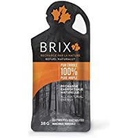 Brix Maple Syrup Natural Energy Gel (Maple, 24 Count)