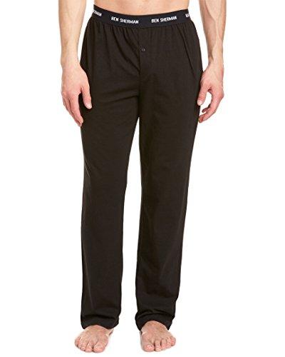 Ben Sherman Men's Lounge Pant, Black, (Ben Sherman Pajama Pants)