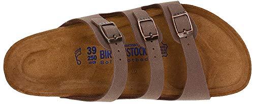 63666eca98a3 Birkenstock Women s Florida Soft Footbed Mocha Birkibuc Sandal 38 R (US  Women s 7-7.5