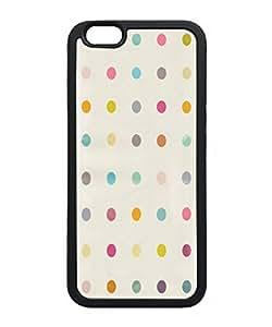 VUTTOO Iphone 6 Plus Case, Simple Flat Dots Pattern Slim Case for Apple Iphone 6 Plus 5.5 Inch TPU Bumper Black