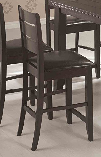 Page Contemporary Counter Height Stool with Slat Back and Padded ()