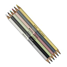NPW-USA We Live Like This Metallic 50/50 Color Pencils, 6-Count (NPW51117)