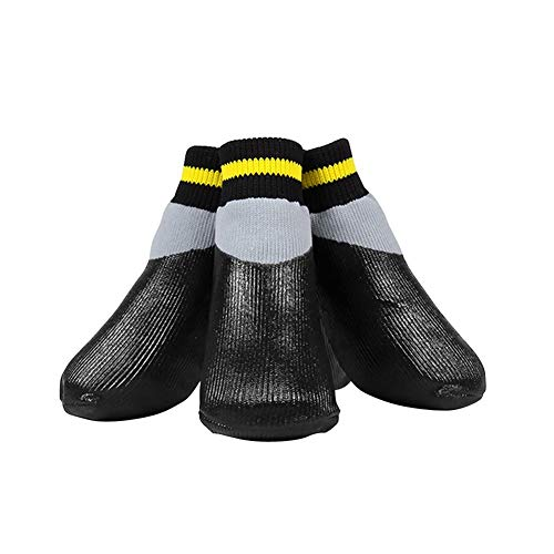 NOMIMAS Outdoor Waterproof Non-Slip Dog Socks Boots Elastic Rain Shoes with Fixed Belt for All Breeds