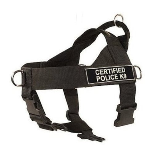 Dean & Tyler D&T UNIVERSAL CPOLICEK9 BK-M DT Universal No Pull Dog Harness, Certified Police K9, Medium, Fits Girth, 66cm to 81cm, Black