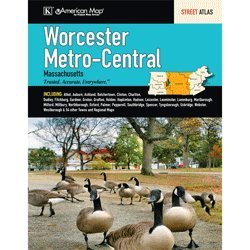 Worcester Metro Central Massachusetts Street Atlas (Worcester Road Map)