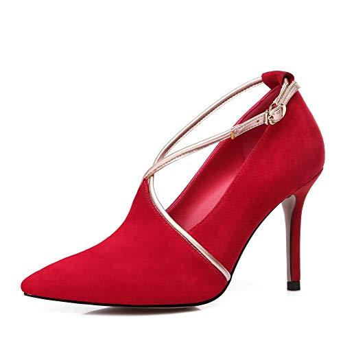 APL11093 Ballroom BalaMasa Nubuck Colors Assorted Shoes Red Womens Dance Pumps Urethane CUCzqPwX