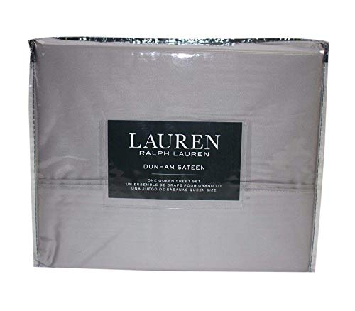 Lauren Queen Dunham Sateen Silver Sheet Set (Ralph Lauren Bedding Queen)