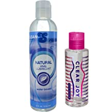 CleanStream Natural Anal Lube 8 oz. and Clear Joy Premium Personal Lube 4 oz....