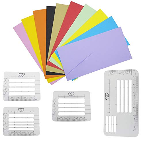 Zerama 4PCS/Set Letter Craft Stencil Kit Transparent Addressing Guide Templates Rulers Diary Handwriting Envelope Multi-use