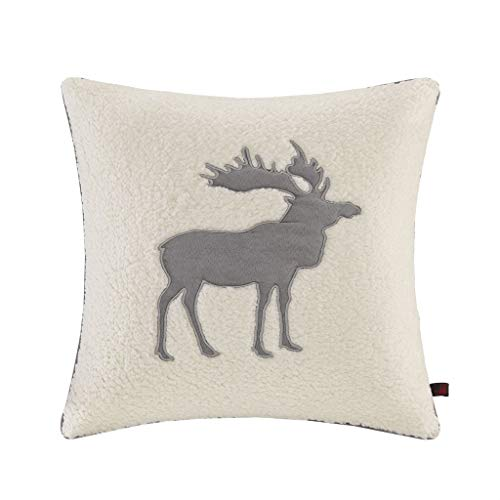 Woolrich Moose Pillow White