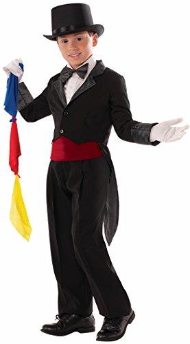 [Forum Novelties Kids Child Magician Tailcoat Costume, Black, Medium] (Magician Costumes)