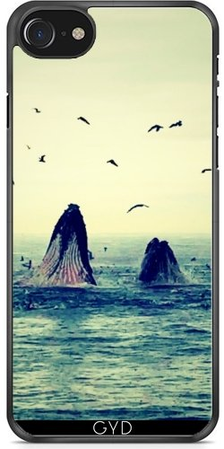 Coque pour Iphone 7 / Iphone 8 (4,7 '') - Baleines by WonderfulDreamPicture
