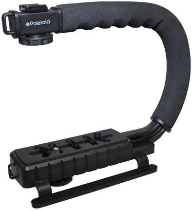 D80 D3000 J2 D5100 V3 V2 D40x D40 D4s D70 D3S S1 Polaroid Sure-GRIP Professional Camera // Camcorder Action Stabilizing Handle Mount For The Nikon 1 J1 V1 D300 D4 D3300 D200 D60 D90 D700 D7000 D5000 D3100 D8 D50 J3 D3200 D3 D100