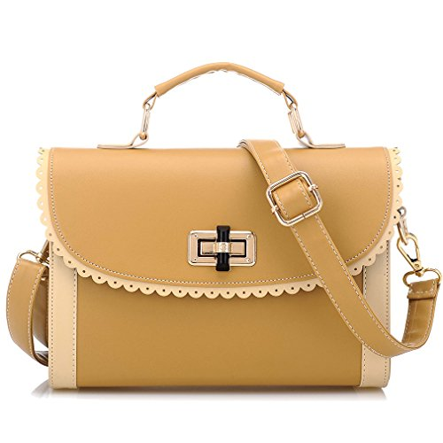 Tide Fashion Shoulder Bag Crossbody Purse Small Satchel Handbag For Womens Yellow
