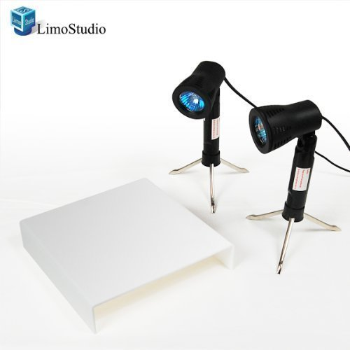 LimoStudio Photography Table Top Studio Display Continuous Photo Lighting Portable Light Kit, AGG931