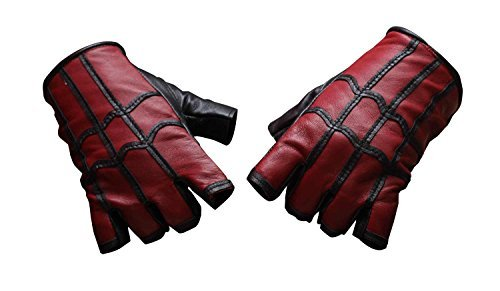 Miracle(Tm) Spider-Man: Homecoming 2017 Costume Gloves - Spiderman Gloves Real Leather (X-Large)