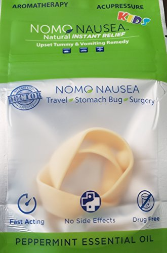 - NoMo Nausea Instant Relief Small Tan Aromatherapy Anti-Nausea Bands with Acupressure