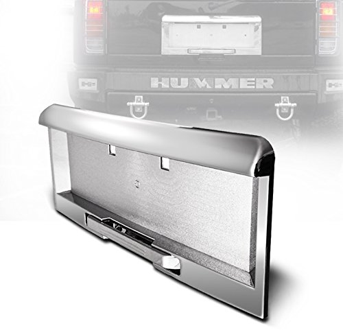 zmautoparts-hummer-h2-rear-license-plate-frame-mouldings-w-handle-3pcs-set-chrome