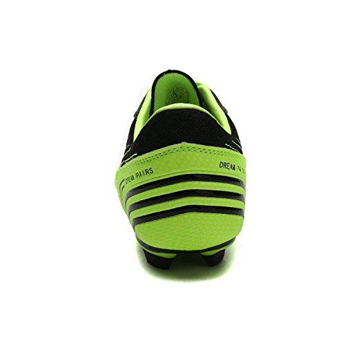 DREAM PAIRS Herren 160860-M Stollen Fußball Fußballschuhe Neon Grün Schwarz