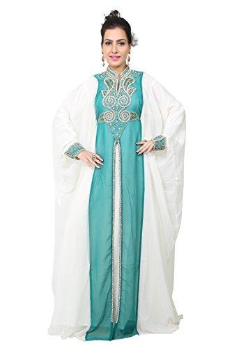 Green Farasha De Style Kaftan Emerald kaf Bedi Árabe Islámico Tamaño 2578 Hombres Largo Vestido Los Uae Único pnTaSx