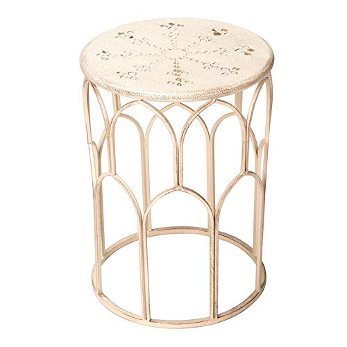 Winsome House Indoor/Outdoor White Table and Plant Stand, 17.9