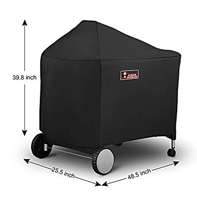 Kingkong 7152 Grill Cover for Weber Performer Charcoal Grills, 22-Inch (Compared to Weber 7152) including Stainless Steel Brush and Tongs