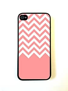 LJF phone case Coral White Chevron iPhone 5 Case - For iPhone 5/5G - Designer PC Case Verizon AT&T Sprint