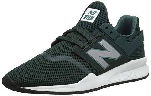 New Balance Men's 247 Mesh Trainers, Green, 10.5 US