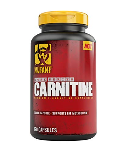Mutant Carnitine Capsules - Proven Levels (2250 Mg Per Dose) of the Stabilized Form of L Carnitine (L-Carnitine-L-Tartrate) Plus the Patented Absorption Agent Bioperine - 120 Capsules Per Bottle