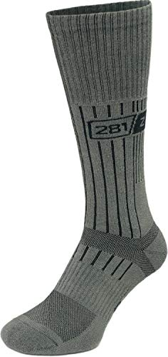 Military Boot Socks - Tactical Trekking Hiking - Outdoor Athletic Sport by 281Z (Sage Green)(Large 1 Pair)