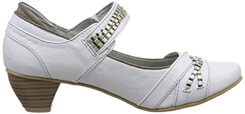 1055221 100 Col blanc Mustang Off Tacco White Scarpe Donna Bianco AZqpaWc