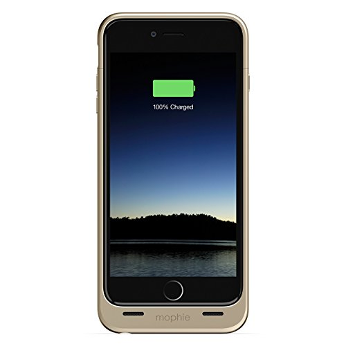 mophie Juice Pack - Protective Battery Case for iPhone 6s Plus/6 Plus (2,600mAh) (Renewed) (Gold)