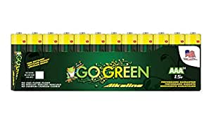 Perfpower Go Green AAA Alkaline Batteries, 24 Count
