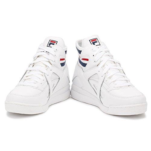 Fila Mens White/Navy/Red Cage Sneakers White/Fila Navy/Fila Red low price fee shipping sale online for sale free shipping 9zYY1G